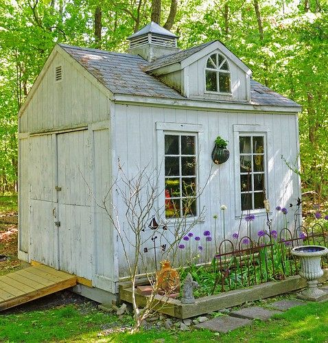 A Garden shed is normally built from the bottom up, starting with the foundations. One should lay the concrete foundation first before preparing the floor frames.