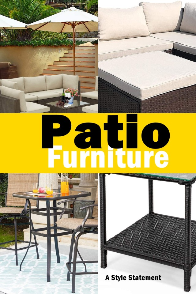 Patio Furniture Has Now Become The Innovation Of Decorative Items In A Way That They Are Also Associated With Elegance Look And Style.