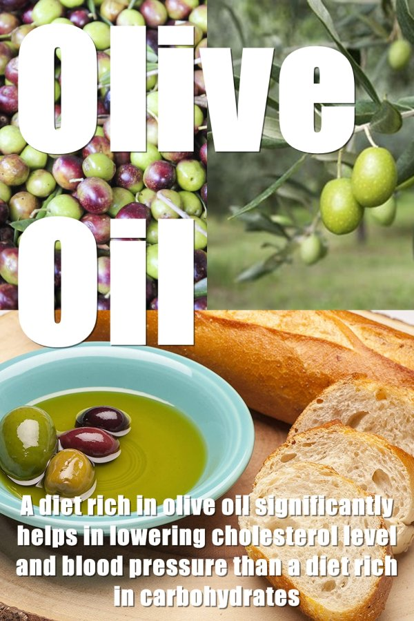 A Diet Rich In Olive Oil Significantly Help In Lowering Cholesterol Level And Blood Pressure Than A Diet Rich In Carbohydrate. A Food-contained Olive Oil Is Much Easier To Get Digest As Compare To A Diet Rich In Protein.